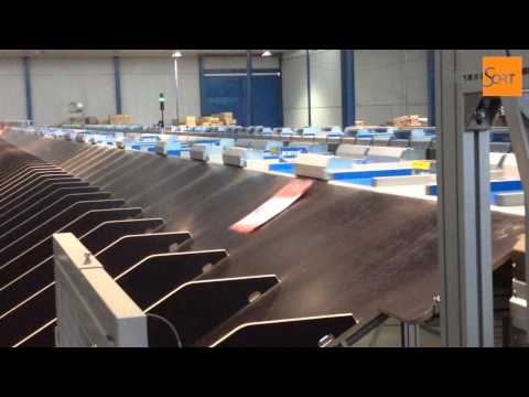 Eurosort Push Tray Sorter integrated by Distrisort in garment & shoe retail