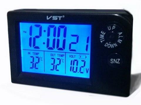 Часы VST-7048V на ВАЗ 2112 взамен штатных