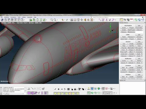 ANSA Airbus geometry cleanup (TOPO) part 1