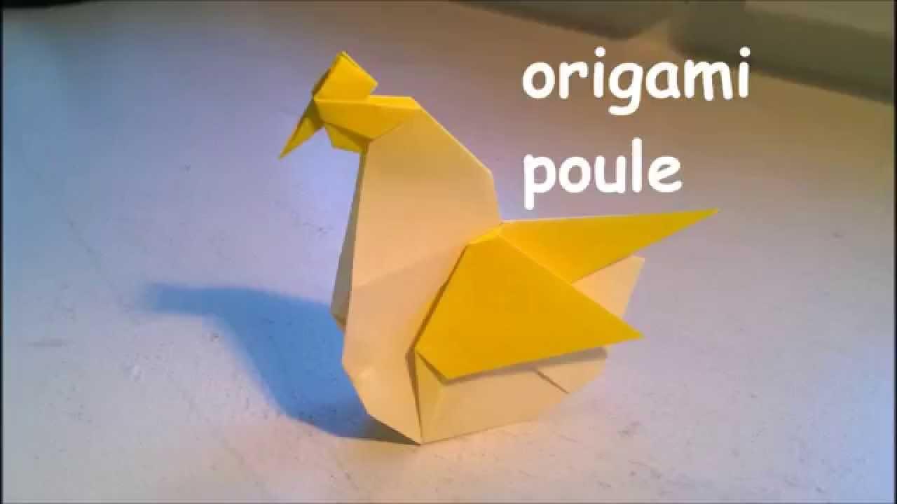 tuto origami poule