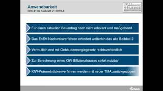 Neuerungen des Beiblatt 2 der DIN 4108. (07/19)