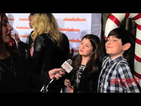 Addison Rieke & Diego Velazquez at Nickelodeon's #HoHoHoliday Special Screening Event #NickelodeonTV