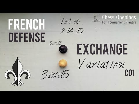 Exchange Variation of the French Defense (C01) ⎸Chess Openings