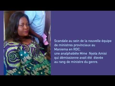 Maniema-RDC: Une ministre analphabète démissionne.