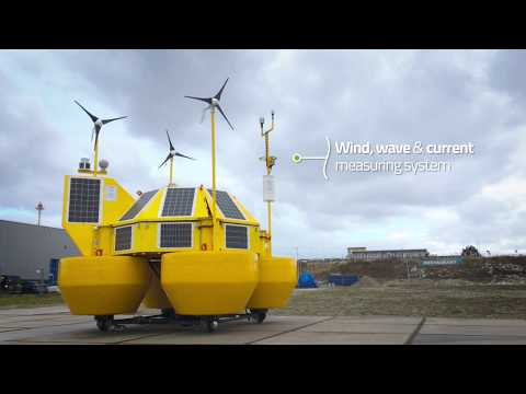 EOLOS FLS200, wind  and ocean data measurement device for offshore construction