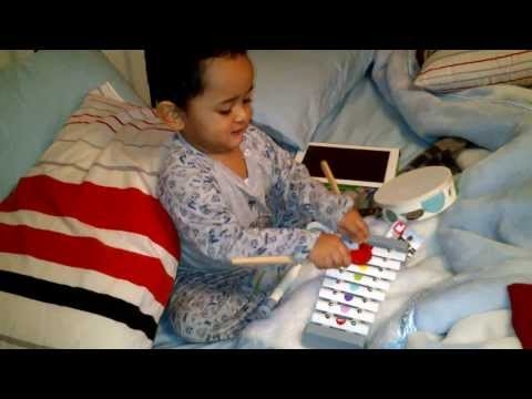 Copy of Aydin and his Xylophone...