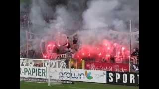 Bengalisches Feuer beim VfR Aalen - FC Heidenheim Abstieg 2. Bundesliga Pyrotechnik