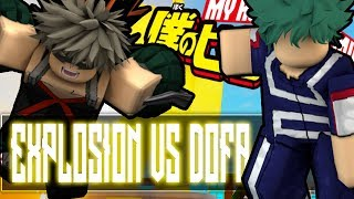 [New Code] Explosion Revamped Vs Deku One For All | Boku No Roblox | Noclypso