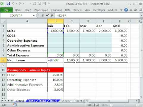 income statement in excel