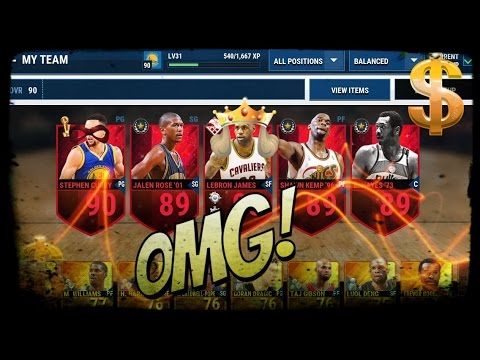 NBA LIVE MOBILE- 90 Rated Team gameplay!! Awesome duo!! - YouTube