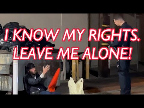 Cops Worst Nightmare – Getting Owned By Homeless Man- Knows His Rights! Profiled FAIL Instant Regret