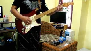 """fender stratocaster usa reissue 57 """"anggrek bulan"""" 4 nada cover"""