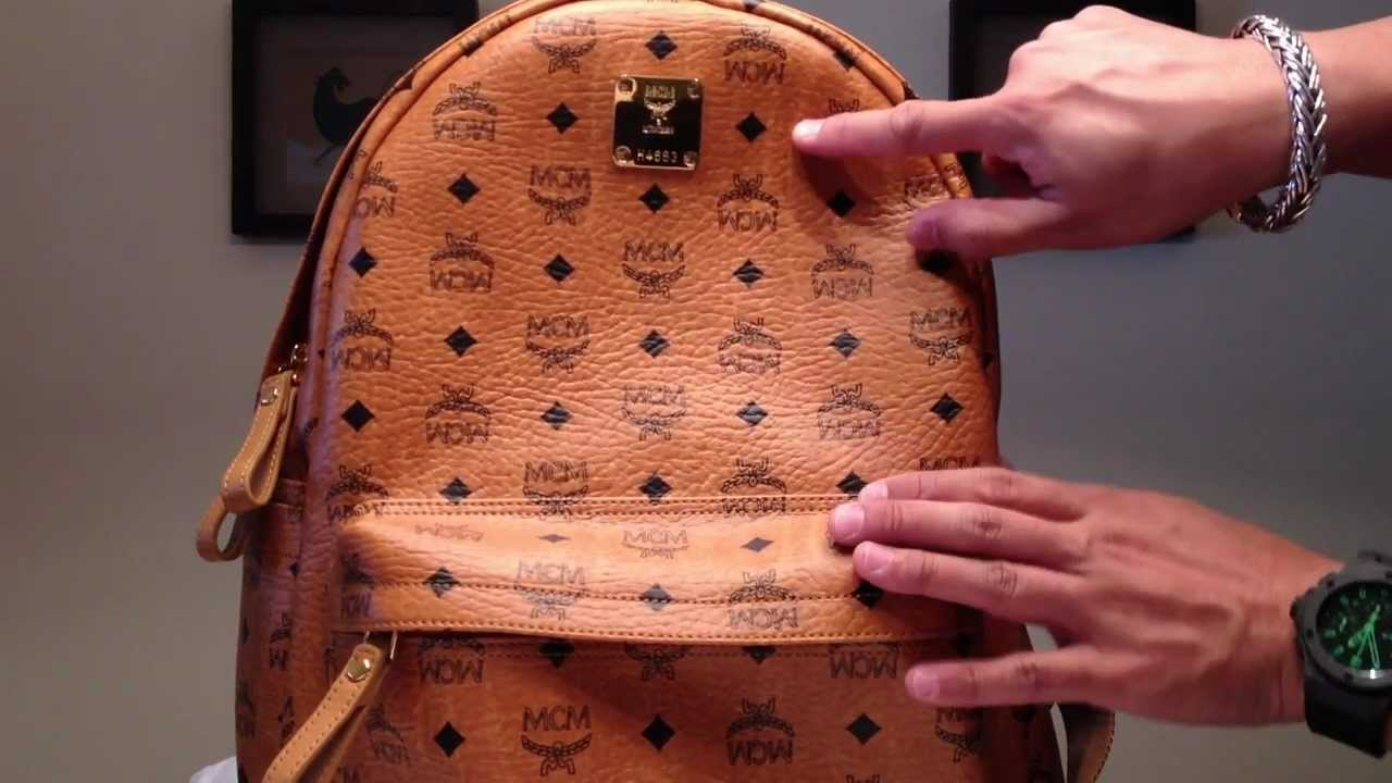 Mcm Stark Medium Backpack Cognac Authentic Rare