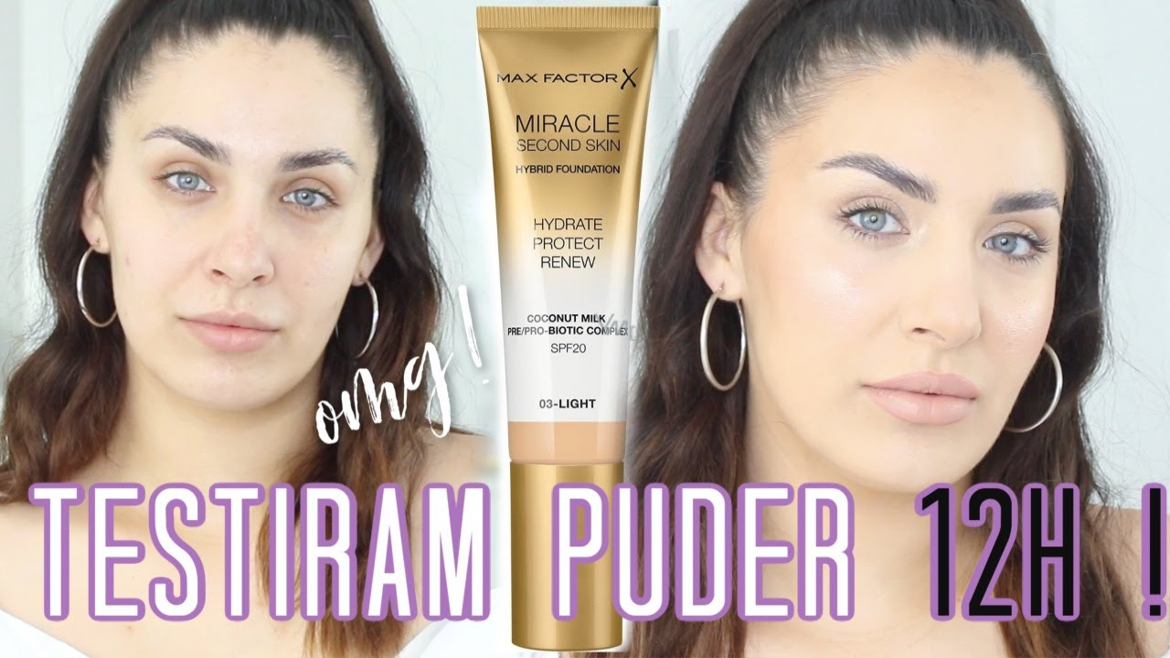 MAX FACTOR MIRACLE SECOND SKIN PUDER😳 PRVI DOJMOVI!