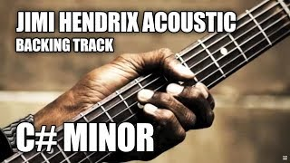 Jimi Hendrix Acoustic Instrumental Guitar Backing Track In C# Minor / E Major