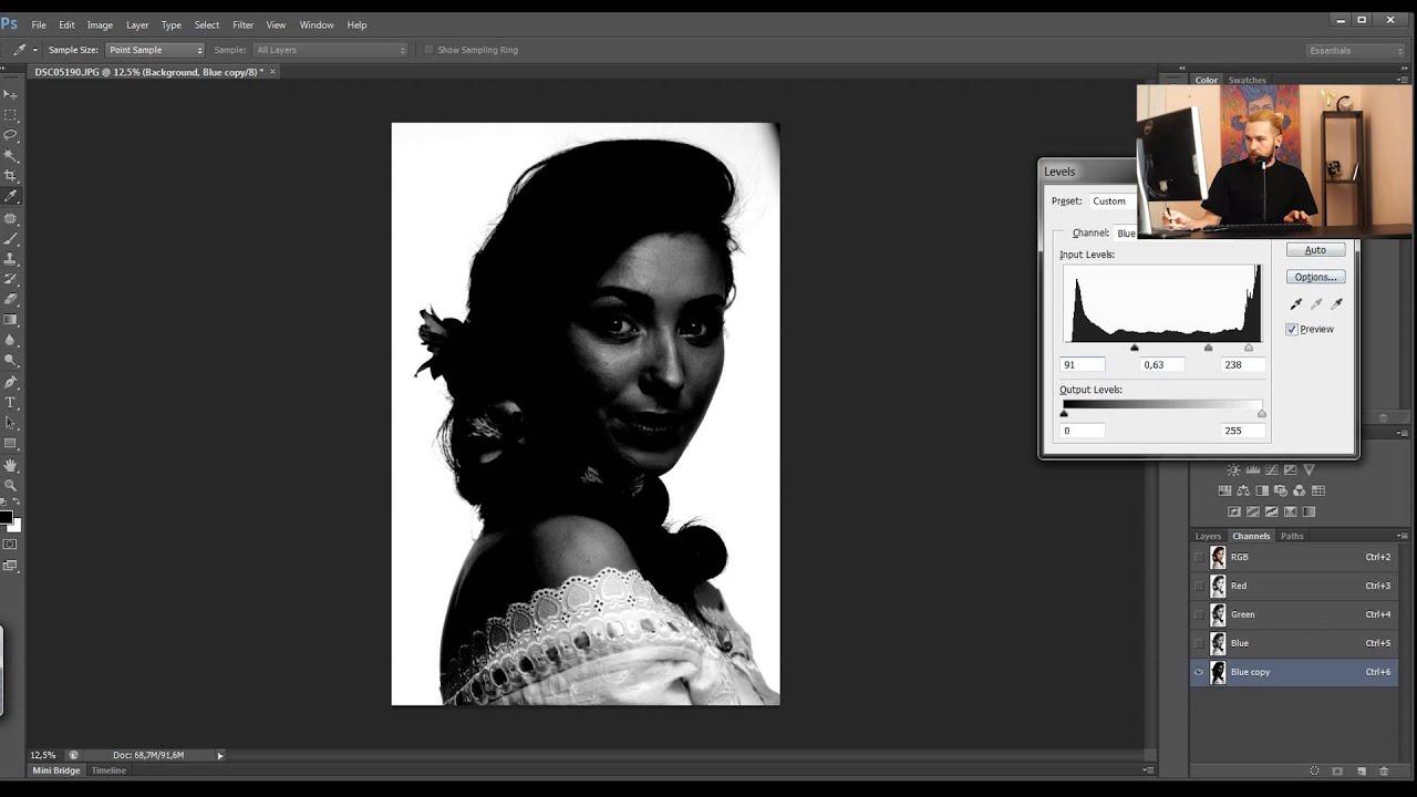 Как сделать идеально белый фон на фото. Урок фотошопа ...