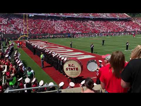 NC State Fight Song At NCSU Vs ECU - 31 August 2019