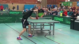Jan   Ove Waldner vs Fegerl Schiri Bachmann Leipold Supercup Table Tennis 20171114 Schwabach Stativ