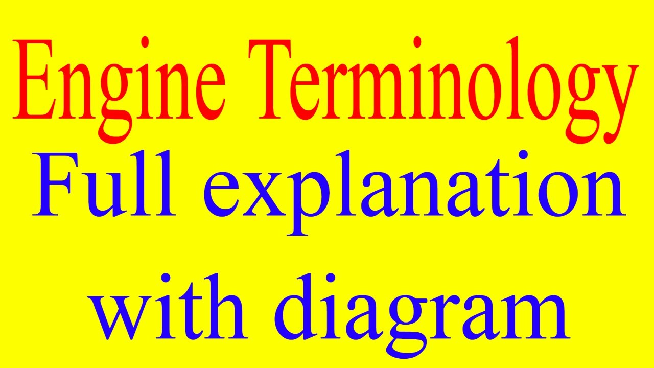 Engine Terminology Full Explanation With Diagrams Tdcbdcbore Valves Diagram Tdcbdcborestrokecompression Ratiovalves Etc
