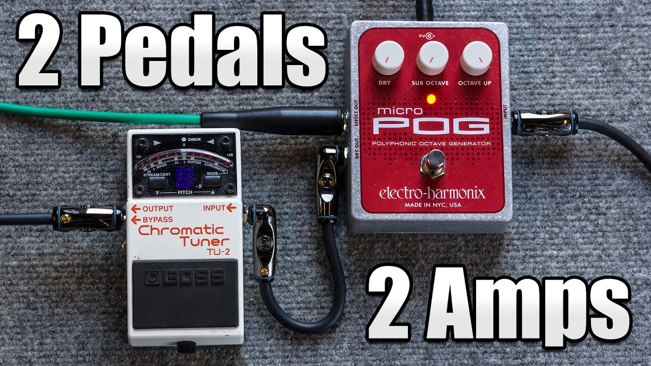 Royal Blood Bass Effects With 2 Pedals And Amps