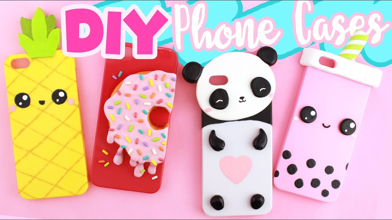 online store 0081b 502ba DIY PHONE CASE Compilation! - 4 CUTE DESIGNS!