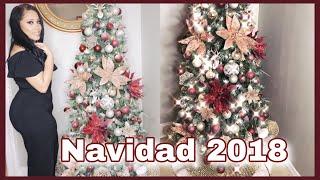 DECORACIONES NAVIDEÑAS 2018/DECORANDO MI ARBOL DE NAVIDAD/DECORA CONMIGO
