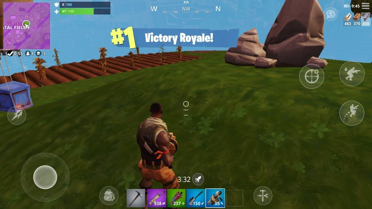 1 Victory Royale Fortnite Battle Royale Mobile Solo Win Youtube