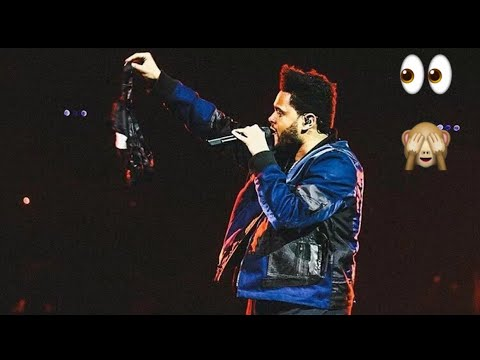 Fans throw bras at The Weeknd (COMPILATION)
