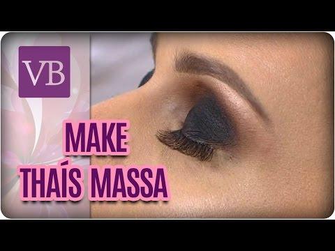 Make da Thaís Massa: Olho Preto e Marrom Esfumado - Você Bonita (16/03/17)