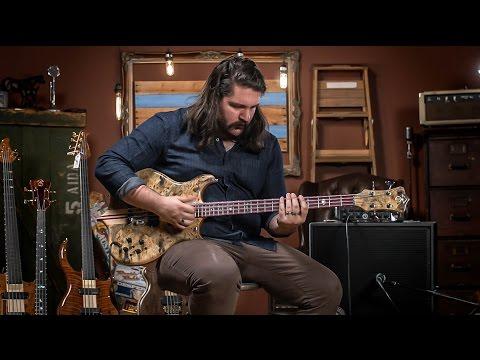 Alembic Mark King Signature Deluxe 4 Buckeye Burl Bass  CME Gear Demo