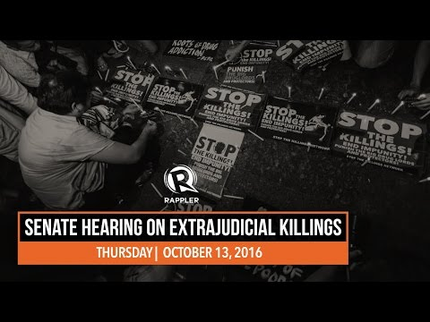 LIVE: Senate hearing on extrajudicial killings, 13 October 2016