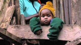 The slums of Nairobi in the Mathare Valley