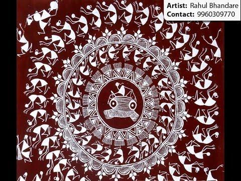Warli wall painting artist in Mumbai & Pune - YouTube