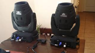 Wireless DMX for moving heads