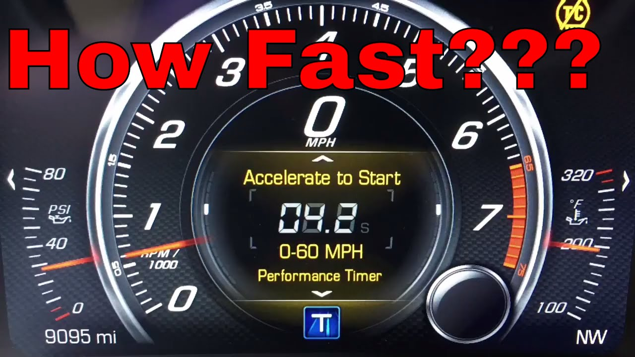 0 60 Performance Timer Demo C7 Corvette Stingray Z51 Manual You