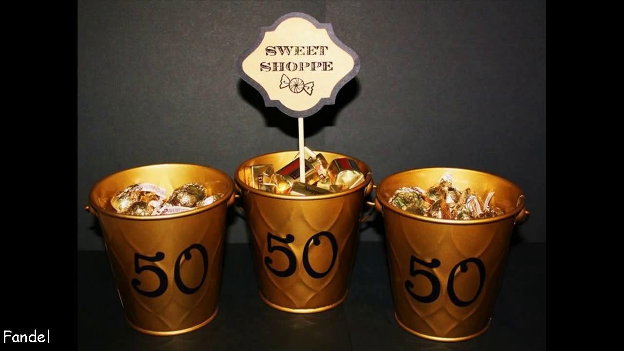 Golden Wedding Centerpieces.50th Wedding Anniversary Decoration Ideas