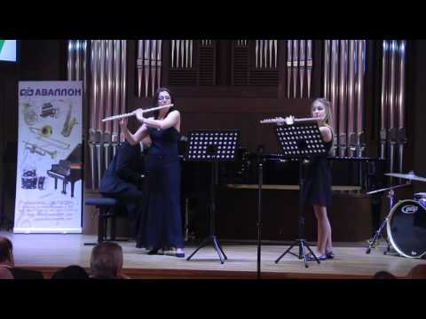 Гобер, Филипп - Divertissement grec for two flutes and harp