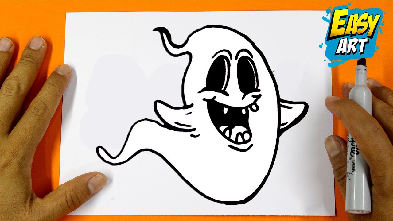 como dibujar un fantasma - how to draw a ghost halloween - dibujos ...