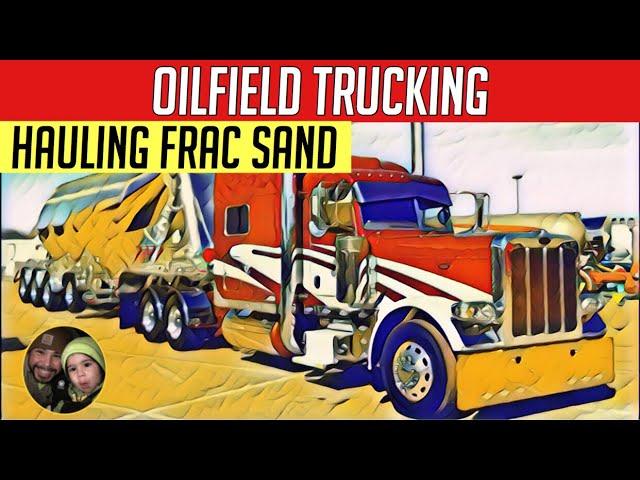 Hauling Frac Sand in West Texas! Oilfield Trucking VLOG