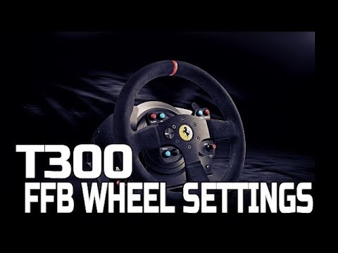 PROJECT CARS 2 THRUSTMASTER T300 FFB WHEEL SETTINGS