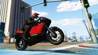 GTA 5 Stunts: Crazy Bike Stunt! - (GTA V Stunts & Fails)