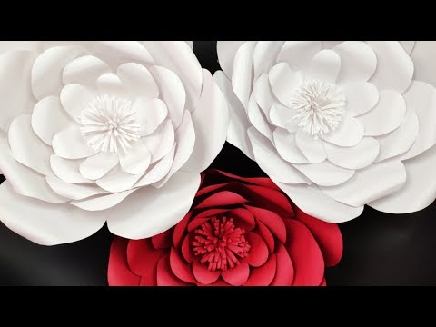 Beautiful FLOWER IDEAS:How To Make Paper Flower - Paper Craft -DIY Paper Flower-Rose flower Tutorial