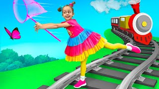 Maya learns the rules where kids can play - Safety Children's Songs
