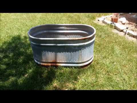 DIY Water Trough Planters
