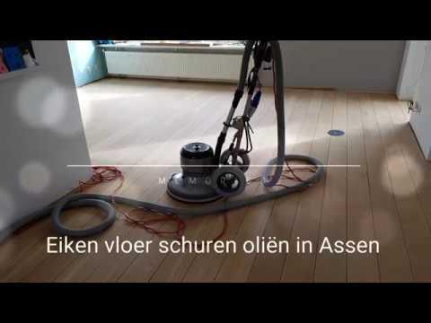 Eiken Vloer Schuren : Eiken houten vloer schuren en oliën in assen youtube