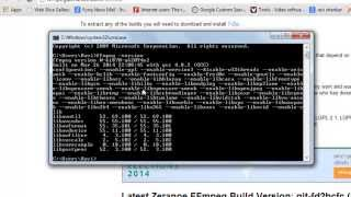 How to install/setup ffmpeg on windows 7