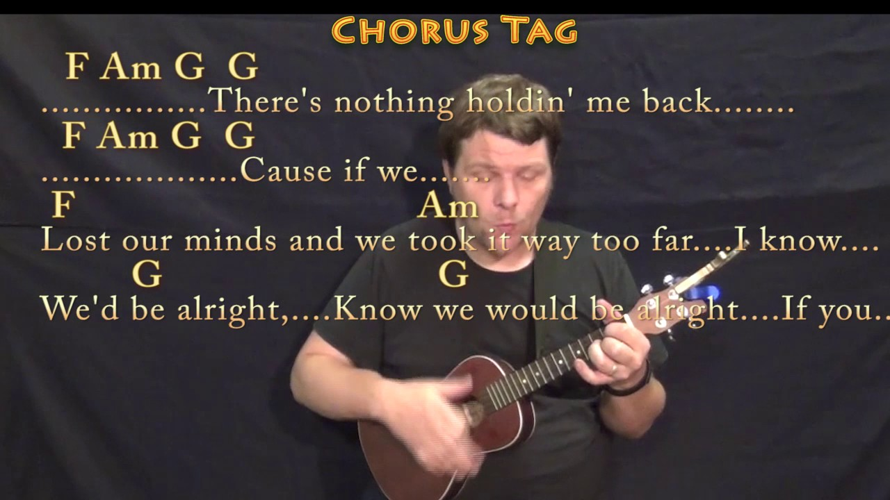 There S Nothing Holdin Me Back Shawn Mendes Ukulele Cover Lesson In Am With Chords Lyrics Youtube