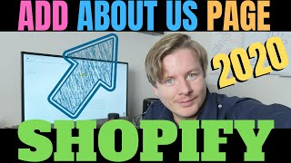How To Add About Us Page In Shopify 2020