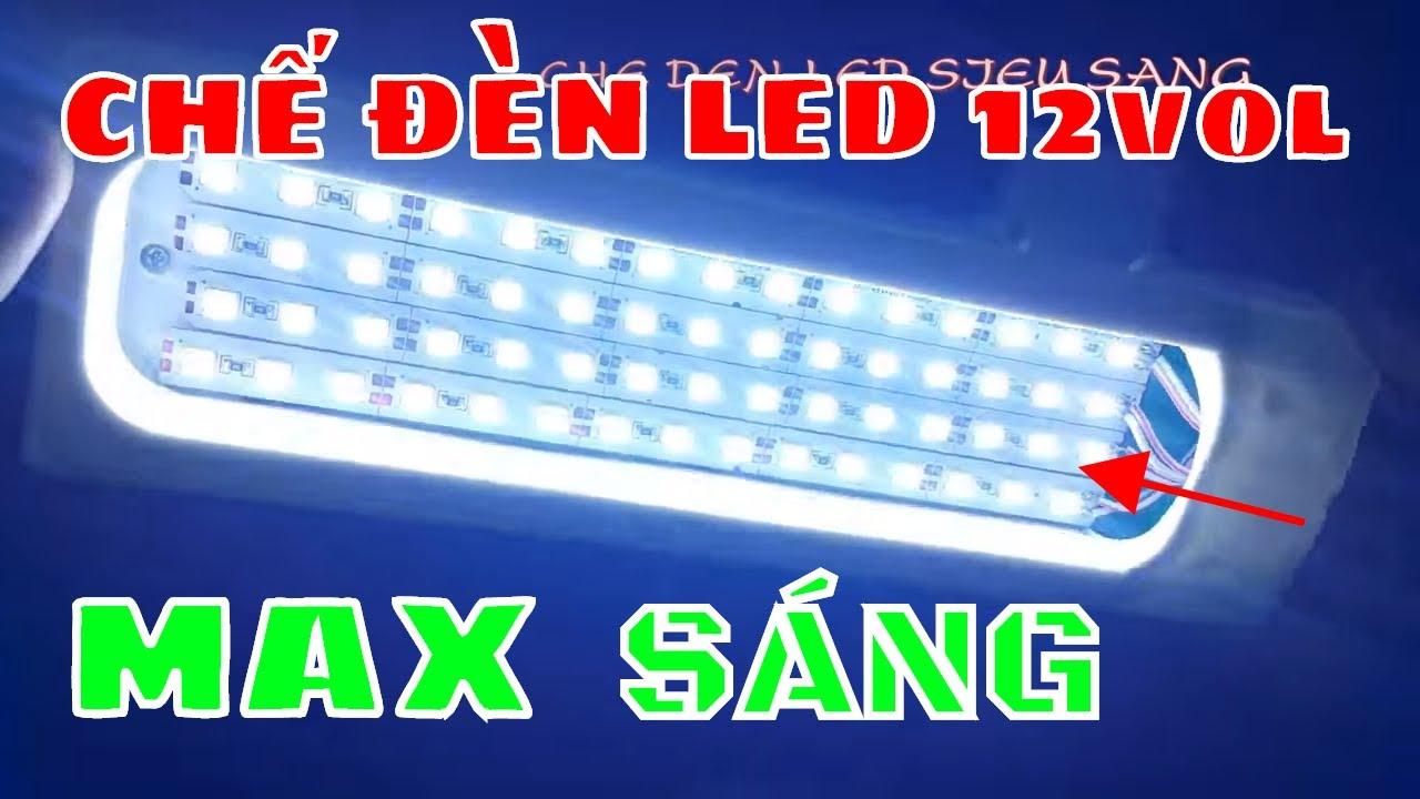 TẬN DỤNG ĐỒ CŨ - CHẾ ĐÈN LED SIÊU SÁNG 12 vol - 50W - DIY LAMP SUPER LIGHT  - YouTube
