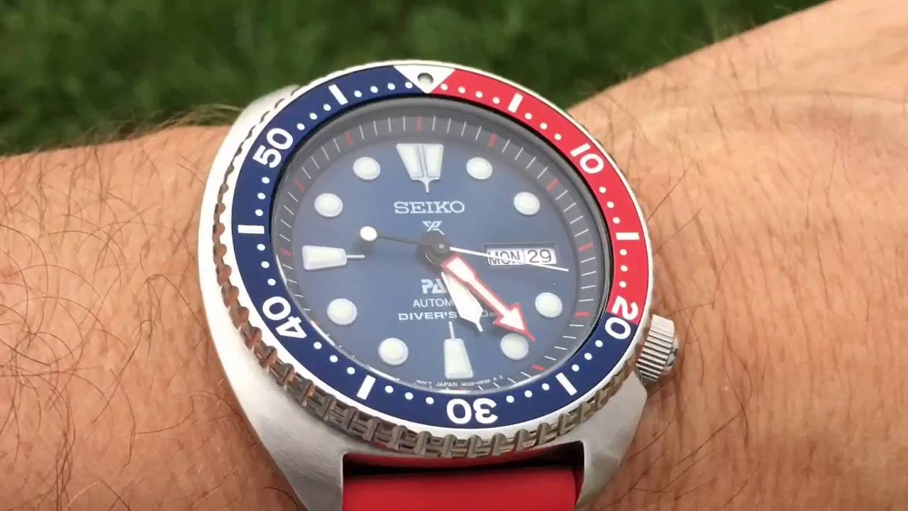 Seiko Padi Srpa21 Review On Rubber Strap Seiko Turtle Prospex Youtube